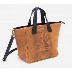 Sac shopper en cuir nubuck...